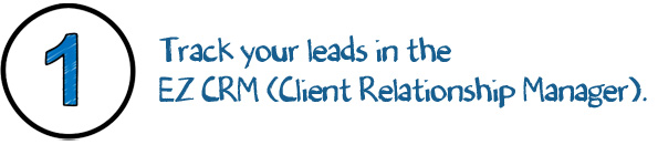 Track your leads with EZ CRM- customer relationship manager.
